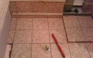 Как класть плитку на пол в бане