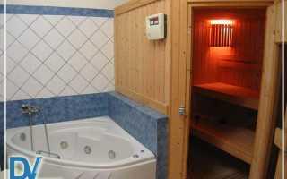 Как сделать баню в ванной комнате