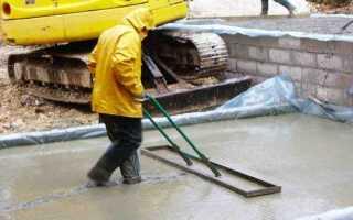 Можно ли заливать бетон в дождь