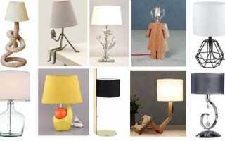 Как закрепить настольную лампу к столу