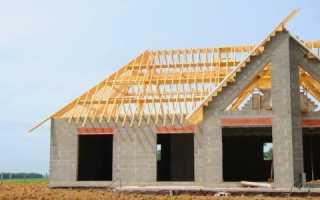 Как крепить крышу к пеноблоку