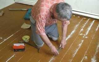 Чем заделать щели в полу между досками