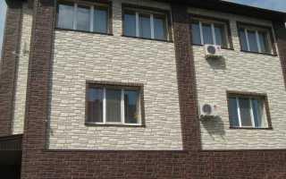 Облицовочные панели для фасада дома под кирпич