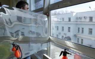 Как снять пленку со стекла окна